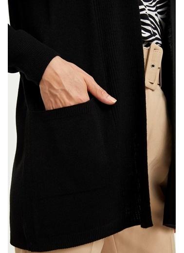 DeFacto Uzun Triko Hırka Siyah
